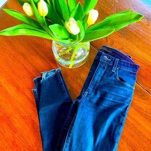 Size 25 Joe's Skinny Raw Edge Skinny Jeans